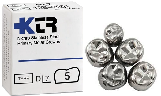KTR Stainless Steel Primary Molar Crowns